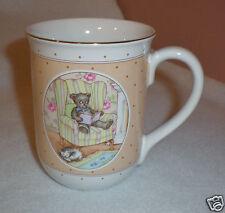 "Otagiri Ceramic Coffee/Tea Mug ""Bear Reading"" Lovely Design - Made in Japan-EUC"