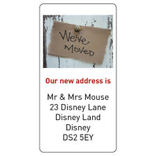 48 x Personalised New House Home We are Moving Address Labels Stickers -r094