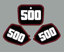 Honda CR500 Number Plate Graphics 91-02 Cr 500 Cr500R 500R sticker decal Black