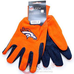 NFL Denver Broncos Utility Gloves NFL Sports Work Men's Gloves - Orange