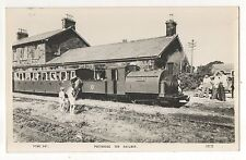 RPPC Portmadoc Toy Miniature Railway Vintag England Real Photo Railroad Postcard