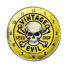 Hot Rod Speed Vintage Evil Metal Clock Man Cave Garage Body Shop Club fsc016