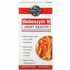 Wobenzym N Joint Health 800 Enteric-Coated Tablets Dairy-Free, Gluten-Free, No