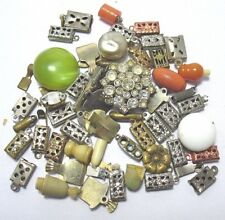 VINTAGE ANTIQUE JEWELRY FINDINGS CLASP LOT SILVER & GOLD TONED
