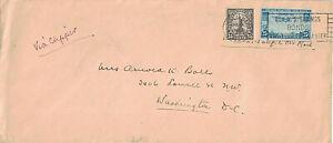 1937 Honolulu, Hawaii Territory Cancel on Clipper Airmail Cover w 25¢ Scott #C20