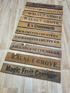 10 Bretter von alten Weinkisten Holzkisten Altholz Holzbrettchen m. Aufdruck