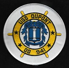 USS DU PONT DD 941 FORREST SHERMAN CLASS DESTROYER SHIP MILITARY PATCH