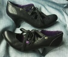Red or Dead - Black leather lace-front shoes - size 6