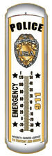 """Police Emergency 911 17"""" Metal Thermometer Protect and Serve Emergency 911 NICE!"""