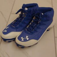 NWOT 2013 UNDER ARMOUR MLB Collection Blue/White Men's Cleats Size 8.5