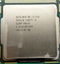 Intel Core i5-760 CPU 2.8 GHz 8M Cache Processor Lynnfield Socket 1156 SLBRP