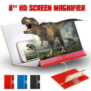 HD Mobile Phone Screen Magnifier 3D Video Amplifier Folding Stand Bracket 8   R