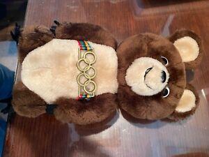 """Vintage R Dakin MISHA 1980 Moscow Olympic Games Mascot 12"""" Plush Teddy Bear"""