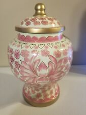 Pink Funeral Urn by Liliane Memorials - Cremation Urn for Human Ashes - HandMade 00006000