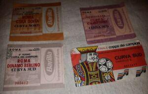 Lotto Tickets Biglietti Champions League Coppa dei Campioni Roma 1984 Curva rari