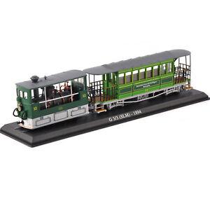 1/87 Atlas Tram Car Model G 33 (SLM) 1894 Diecast Bus Toy Collectible F Kid Gift