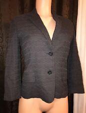 Dolce & Gabbana Women's Brown Chevron Print Blazer Jacket Top Size 44