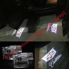 2x CREE LED Door Courtesy Laser Shadow Lights For Cadillac SRX ATS XTS XT5 CT6