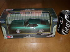 1971 Ford Mustang Sports Roof Car- Teal , Die Cast Metal Factory Built Toy, 1:24