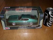 1971 FORD MUSTANG SPORTSROOF CAR - TEAL , DIE CAST METAL FACTORY BUILT TOY, 1:24