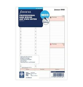filofax A5 Kalendereinlage 2022 Professional 1Woche / 2 S. Kalendarium 22-68553