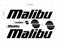 "Malibu boat Emblems 37"" black + FREE FAST delivery DHL express"