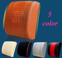 Car Office PU leather Memory Foam Seat Waist Lumbar Back Support Cushion Pillow