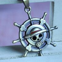 Fashion Jewelry One Piece Pirate Flag Metal Pendent Necklace Cosplay Anime