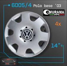 4x Original Murama Radkappen für 14 Zoll Felgen VW Polo Basic 03 Grau NEU