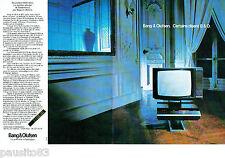 PUBLICITE ADVERTISING 016  1982  Bang & Olufsen le Beosystem 8800 vidéo (2p)