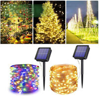 100/200 LEDS Solar Fairy String Lights Copper Wire For Outdoor Party Xmas Garden