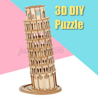 3D DIY Kid Adult Puzzle Leaning Tower of Pisa Italy Jigsaw Educational Toy
