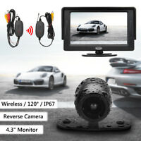 4.3'' TFT LCD Car Wireless Monitor Rear View + Reversing Backup Parking Camera