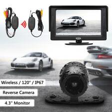 4.3'' TFT LCD Car Wireless Monitor Rear View + Reversing Backup Parking Camera !
