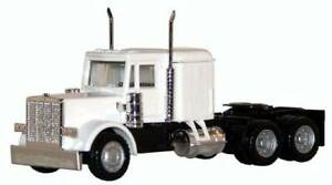 PETERBILT Sleeper cab TRUCK WHITE Prime mover HO 1/87 Scale Promotex Herpa 25284