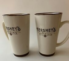 "2 Hershey's Chocolate Ceramic Coffee Tea Latte Mug Cup Galerie Brown 6"" tall"