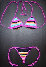Sexy G-STRING BIKINI Multi-Coloured Pattern Thong Swimsuit Swimwear Underwear