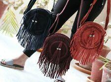 Suede Leather Party Wear Fringe Handbag Boho Bag Shoulder Bag Stylish Womens Bag