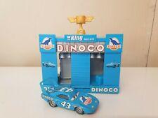 Disney Cars The King Dinoco Team Garage Race O Rama mini playsets Very Rare