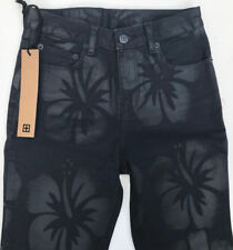 NEW RRP$389 Womens Stunning ksubi tsubi 'HIGH AND WASTED' Black Jeans W25-26 L29