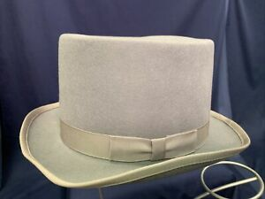 Gray Wool Top Hat Adult Formal Accessory Morris NOS Size Large