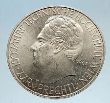 1965 AUSTRIA Vienna Tech School J J von Prechtl Silver 25 Schilling Coin i74959