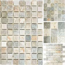 Quarzitmosaik Naturstein Mosaikfliesen Brick Stäbchen Küchenrückwand Wanddekor