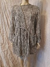 The Masai Clothing check mesh cotton knitted woven cardi coat size XL