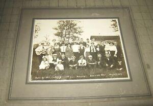 """1910's? MONACA Beaver County Pennsylvania 9"""" x 7"""" GROUP PHOTO Guitar Concertina"""