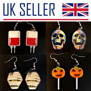 Halloween Earrings - Gift, HHN, Horror, Pumpkin, Skull, Scream, Blood, Trick