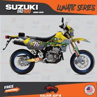 Suzuki DRZ400SM Graphics Kit LUNATIC Series DRZ400 SM S E drz 400 yellow green