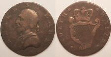 Irlande, Evasion Halfpenny, Shakespear Noth Wales, vers 1790, Rare !