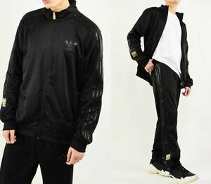 MED  adidas OG Men's  CHILE  20 TRACKSUIT - TRACK  TOP & PANTS  BLK/BLK   LAST1