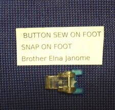 Universal Domestic Sewing Machine Snap On Foot Button Sew On Brother Singer Elna